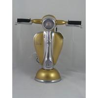 Vespa-Roller-Tischlampe goldfarben
