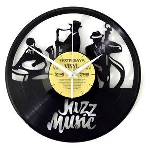 Vinyl Jazzmusik-Wanduhr