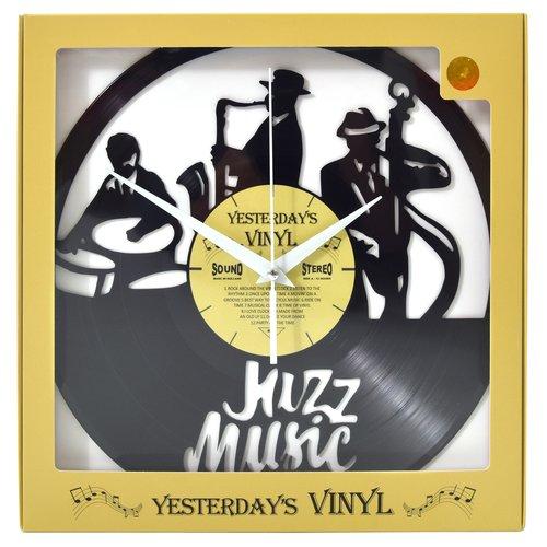 Vinyl Vinyl wandklok Jazz muzikanten