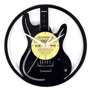 Vinyl Gitarre Wanduhr