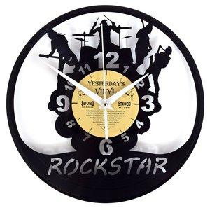 Vinyl Rockstar wandklok