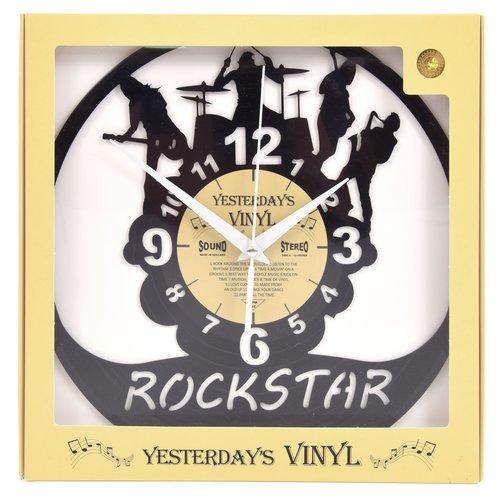Vinyl Vinyl wandklok Rockstar