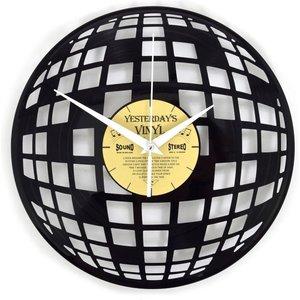 Vinyl Disco-Kugel Wanduhr