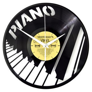 Vinyl Pianotoetsen wandklok