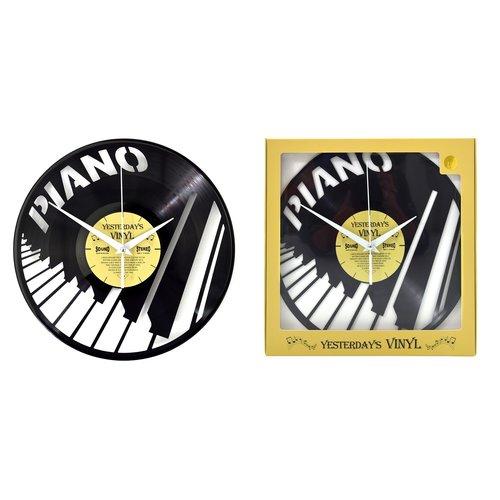 Vinyl Vinyl wandklok Pianotoetsen