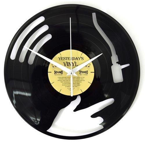 Vinyl Disc jockey wandklok
