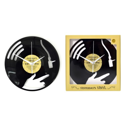 Vinyl Vinyl wandklok Disc jockey