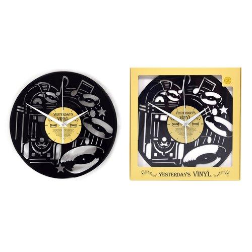 Vinyl Vinyl-Wanduhr Jukebox