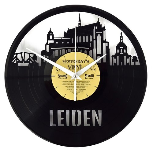 Vinyl Skyline Leiden -Wanduhr