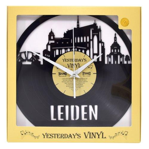 Vinyl Vinyl wandklok Skyline Leiden