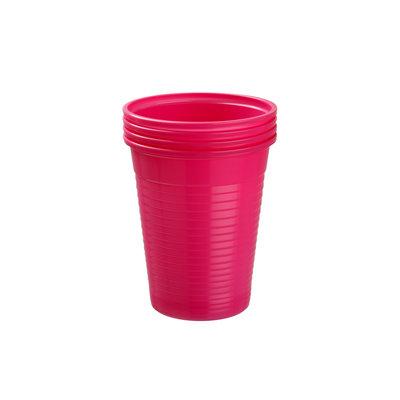 Drinkcups plastic fuchsia 180 ml