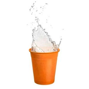 Drinkcups plastic oranje 180 ml