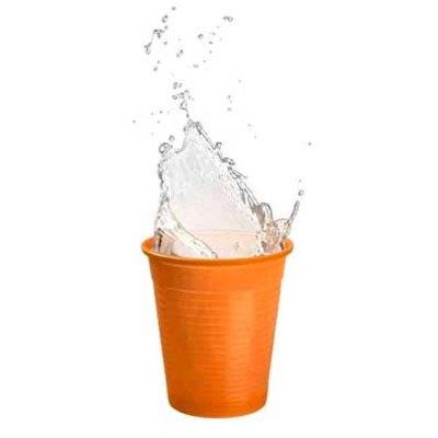 Drinkcups plastic oranje 180 ml