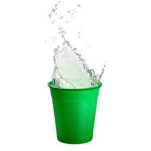 Drinkcups plastic groen 180 ml