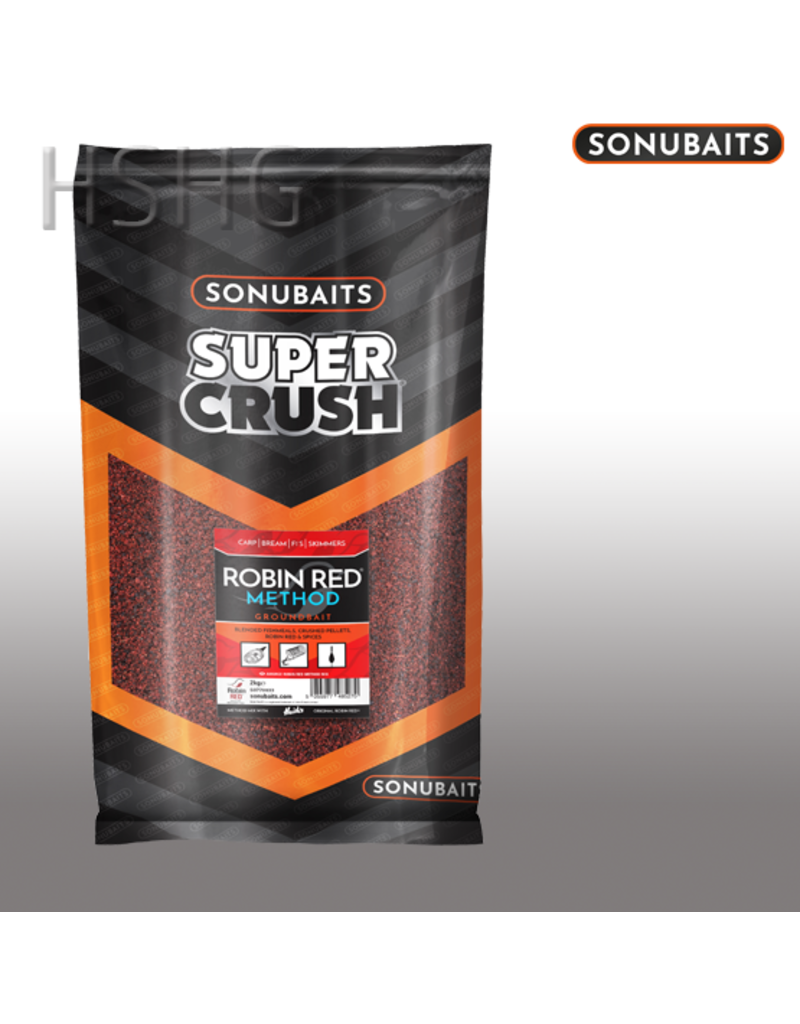 Sonubaits Sonubaits Super Crush Robin Red Method Groundbait 2kg