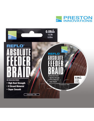 Preston innovations Preston Absolute Feeder Braid Gevlochten Vislijn Bruin