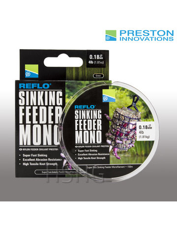 Preston innovations Preston Sinking Feeder Mono nylon vislijn groen