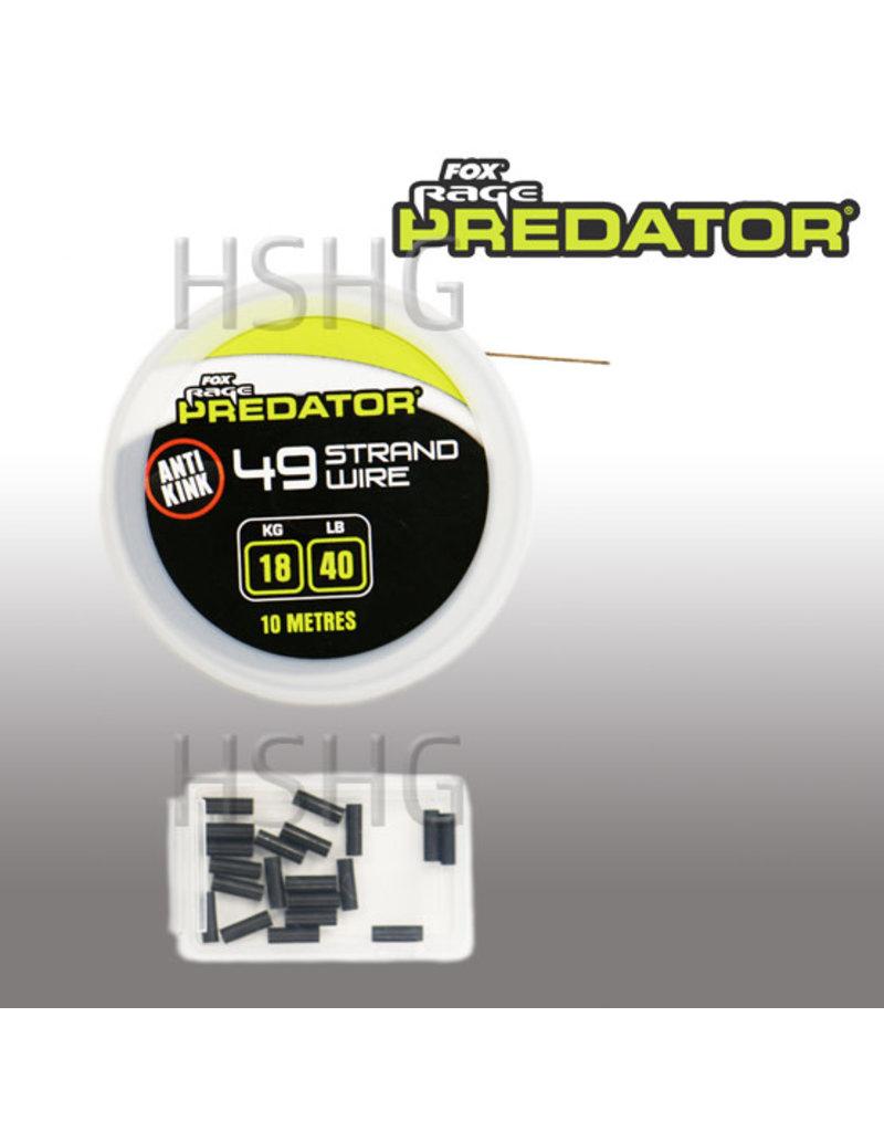 Fox Rage Predator Fox Rage Predator 49 strand Wire 18kg 10m