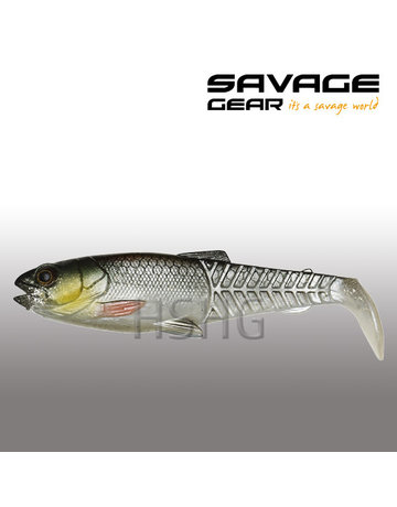 Savage Gear Savage Gear Craft Cannibal Paddle Tail Green Silver 12.5cm 20gram