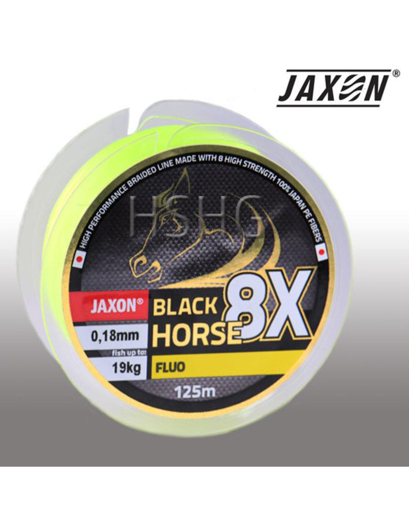 Jaxon Jaxon Black Horse Fluo 8X Gevlochten lijn