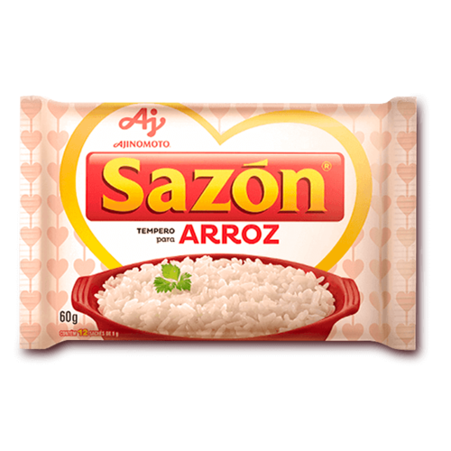 Ajinomoto Tempero Sazon Branco Arroz 60g