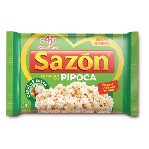 Ajinomoto Tempero Sazon Pipoca Cebola Salsa 60g