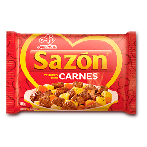 Ajinomoto Tempero Sazon Vermelho Carnes 60g