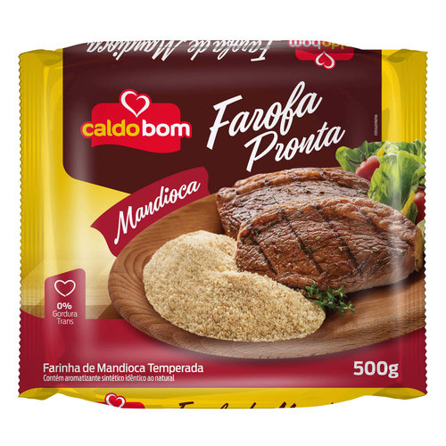 Caldo Bom Roasted and Seasoned Manioc Flour Caldo Bom 500g