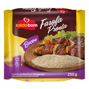 Caldo Bom Farofa de Mandioca sabor Bacon Caldo Bom 250g