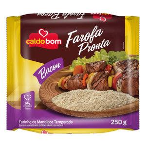 Caldo Bom Gerooterde Cassave Meel met  Bacon smaak  Caldo Bom 250g