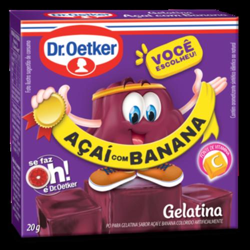 DrOetker Gelatina Acai com Banana Dr Oetker 20g