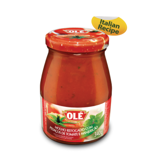Ole Tomato Sauce with Chopped Tomato and Basil vd Ole 340g
