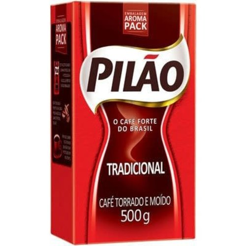 Pilao Cafe Torrada Moido a vacou Tradicional Pilao 500g