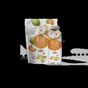 Coco Pure Agua de Coco Desidratada em pó com Gengibre e Limao 200g