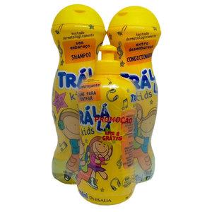 Phisalia Kit Sem Embaraco Shampoo Condicionador Creme Pentear