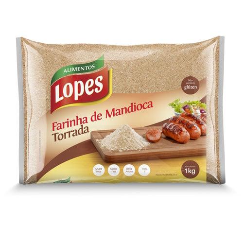 Lopes Farinha Mandioca Torrada Lopes 1kg