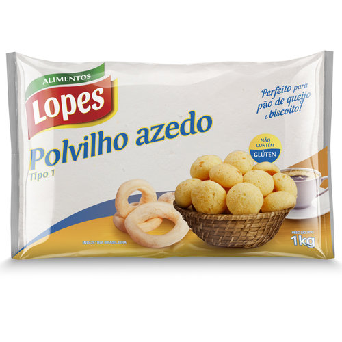Lopes Polvilho Azedo Granulado Lopes 1kg