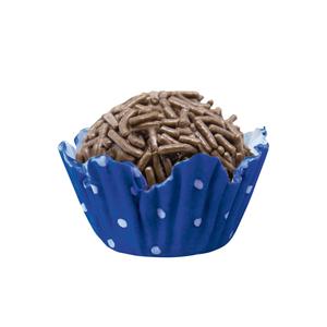 Mago Forminha Papel Azul Royal Bolinha Neg Recortada