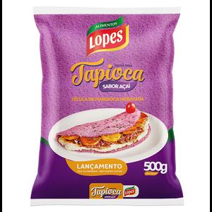 Lopes Tapioca Hidratada com Açaí Lopes 500g