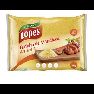 Lopes Farinha de Mandioca Amarela Fina Lopes 1kg