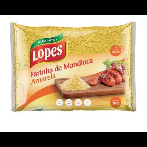 Lopes Farinha de Mandioca Amarela Media Lopes 1kg