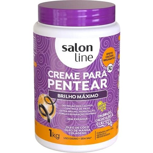 Salon Line Creme Pentear Brilho Maximo Salon Line 1000g