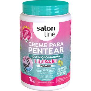 Salon Line Creme Pentear Definicao Maxima Salon Line 1000g