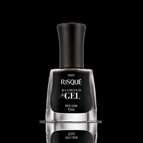 Risque Esmalte Risque Diamond Gel Preto Caviar 9.5ml