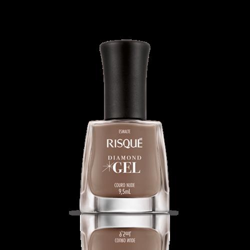 Risque Esmalte Risque Diamond Gel Couro Nude 9.5ml