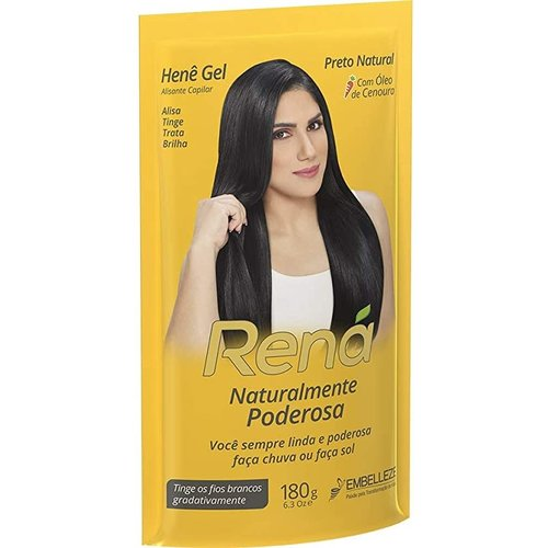 Embelleze Alisante com  Coloração HENE RENA 180g  Jaborandi