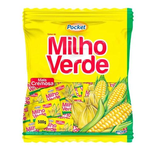 Riclan Bala Dura Milho Verde - Pocket 500g