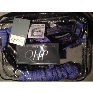 QHP Halsterset met fleece onderlegd Kleur Barok