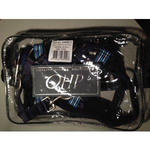 QHP Halsterset met fleece onderlegd kleur Eclipse
