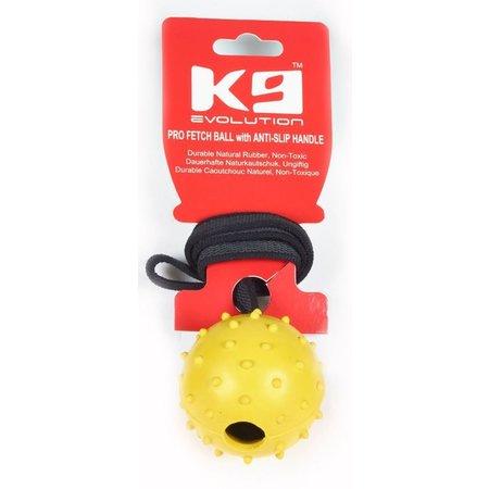 K9-evolution Hollow Rubber Ball M 6cm Rubber-Grip Leash